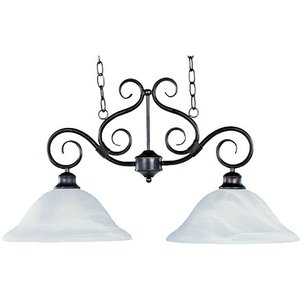 Maxim Lighting 2651MRKB Linear Pendant, 2-Light, 60W, Kentucky Bronze