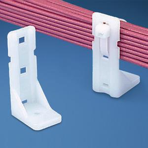 Panduit PP2S-S12-C Cable Tie Mount, Standoff, # 12 Screw Hole, Nylon, White