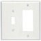 80605-W WH WP 2G TGL/DEC MIDWY