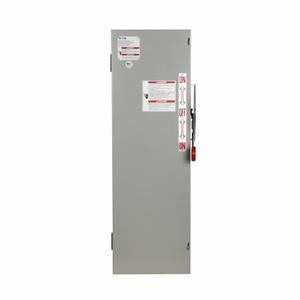 Eaton DT361FGK Safety Switch, Double Throw, Heavy Duty, 30A, 3P, 600VAC, NEMA 1