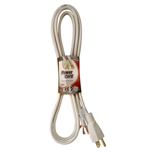 Southwire 9746SW8823 Power Supply Cord, SPT-3, 14/2, Straight Angle Plug, 6' Long, Beige