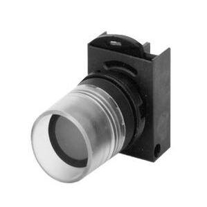 GE P9MPLBGV Push Button, Illuminated, Glass White, Flush, Operator Only