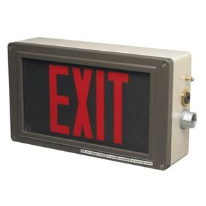 Cooper Crouse-Hinds 12191130005 LED Exit Sign with Battery, 120-277VAC, 110-250VDC