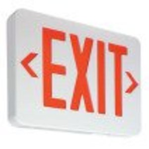 Philips - Light To Go PVERWEM LED Exit Sign, Red Lettering