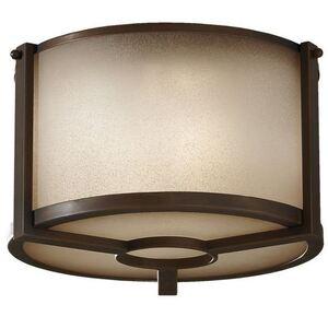 Feiss FM357-PCN Ceiling Light, 2 Light, 60W, Pecan