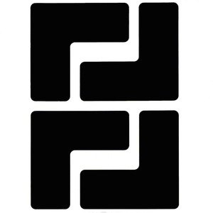 "Brady 104434 Floor Marking Tape, 2"" x 5"" Corner L Mark, Black"