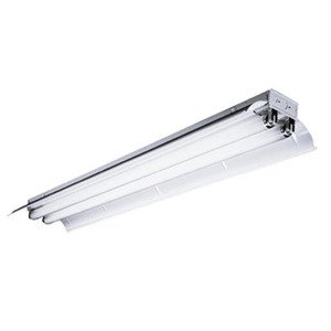 "Hubbell-Columbia Lighting CSR8-232-ST-4EU-1PK Industrial Fluorescent Light, 2-Lamp, 96"", 32W, 12/277V"