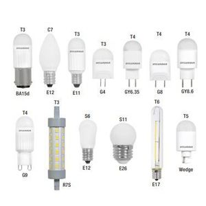 SYLVANIA LED1S6830BL LED Specialty Lamp, 1W, S6, 3000K, 30 Lumen, 120V, Clear