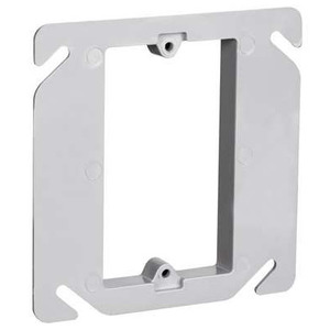 "Pass & Seymour RC-1 4"" Square Box Device Ring, 1-Gang, 3/8"" Raised, Non-Metallic"