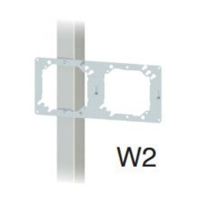 Cablofil W2 Wall Bracket, 2 Openings, Steel