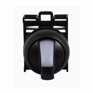 Eaton M22S-WLK-W Selector Switch, Knob Type, Black, M22
