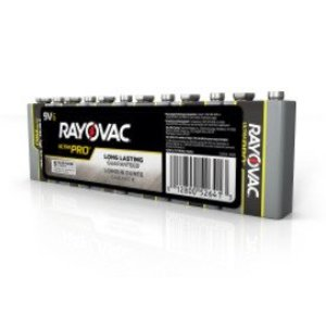 Rayovac AL9V-6J Alkaline Shrink-Wrapped Batteries, 9V, 6 Pack
