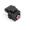 40735-RRE BLK QKPORT SNAPIN RCA TO 110
