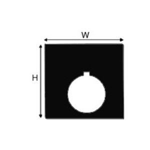 "Brady THTEP-170-593-.5BK Raised PanelLabel, Black, 2.4"" H x 2.4"" W"