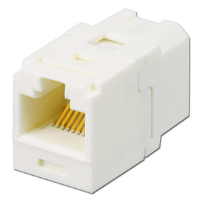 Panduit CC5E88IW Mini-Com Coupler Module, Cat 5e, UTP, Of