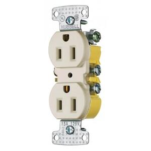 Hubbell-Wiring Kellems RR15LA RESI DUP RCPT, 15A 125V, PUSH TERM, LA