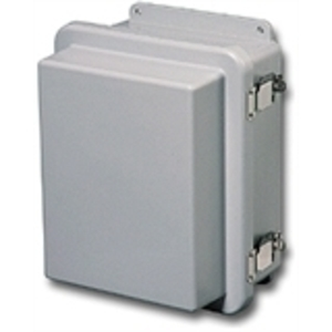 "Stahlin RJ1210HPL Enclosure, Hinged, Padlock Latches, 12"" x 10"" x 7"""