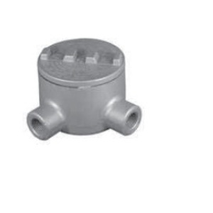 "Appleton GRL75-A Conduit Outlet Box, Type GRL, (2) 3/4"" Hubs, Aluminum"