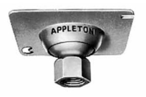 "Appleton 8456R Ball Type Swivel Hanger, Fixture Stem Size: 3/4"", Metallic"