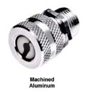 "Hubbell-Kellems SHC1016 1/2"" Male Cord Connector, Straight, Aluminum, Black"