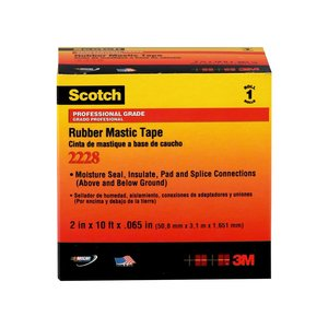"3M 2228-2X3FT Rubber Mastic Tape 2"" X 3'"