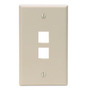 410802IP FACEPLATE 2 PORT IVORY