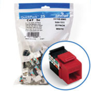5G108-BC5 RD CAT 5E SNPIN JACK 1 = 25