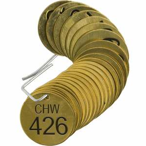 23533 STAMPED BRASS VALVE TAG