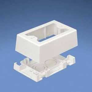 Panduit JBX3510IW-A Outlet Box, 1-Gang, T45/LD Profile Raceways, Off-White