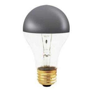 Bulbrite 60A19HM Incandescent Bulb, A19, 60W, 120V, Half Chrome