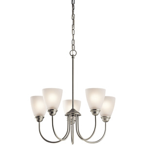 Kichler 43638NI 5 Light Mini Chandelier, Brushed Nickel