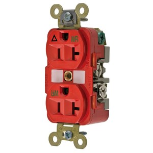 Hubbell-Wiring Kellems IG5362RWR WR RCPT, DUP, SB, IG, 20A 125V, RD