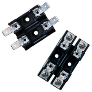 "Eaton/Bussmann Series S-8202-2 2-Pole Fuse Block, 1/4"" x 1-1/4"" Fuses, 20A 300V, 40° Quick Connect"