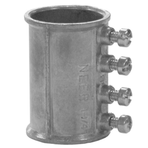 "Appleton TC-511 EMT Set Screw Coupling, 1/2"", Zinc Die Cast"