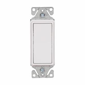 Eaton Wiring Devices 7503W 3-Way Decora Switch, 15A, 120/277V, White