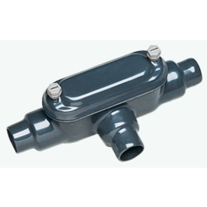 "Plasti-Bond PRHTB448 Conduit Body, Type: TB, FM8, Size: 1-1/4"", PVC Coated Iron"
