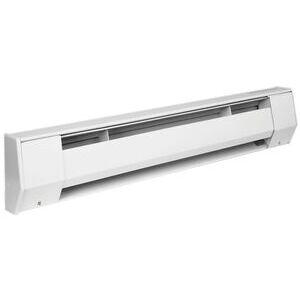 King Electrical 6K2412BW 6K2412BW 6 ft. Baseboard Heater, 240V, 1125W