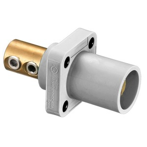 Hubbell-Wiring Kellems HBLMRW SINGLEPOLE, 300/400A MALE RCPT, SCRW, WH