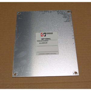 "Stahlin BP108AL Panel For Enclosure, 10"" x 8"", N Series, Aluminum"