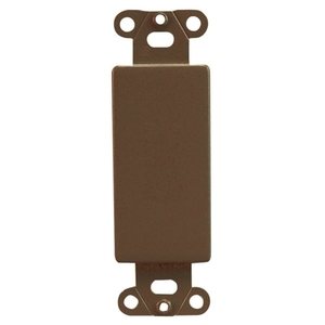 Pass & Seymour 326 Blank Insert Mounting Strap, Steel, Brown