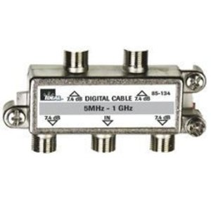 Ideal 85-134 Splitter, 4-Way, Video, 5 MHz - 1 GHz, Screw Mount