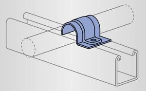 Unistrut P2009-EG One Hole O.d. Tubing Clamp