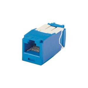 Panduit CJ6X88TGBU-24 Mini-Com Module, Cat 6A, UTP, 8 pos 8 wi