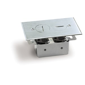 Lew RRP-2-A Floor Plate Assembly, Receptacle Box, Aluminum