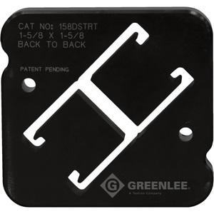 """Greenlee 158DSTRT Back to Back Strut Die Set 1-5/8"""" x 3-1/4"""""""
