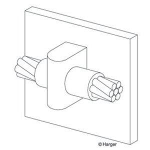 Harger Lightning & Grounding VH4/0B 4/0 TO FLAT STEEL