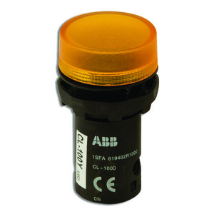 ABB CL-100Y 22mm Indicator Light, Yellow