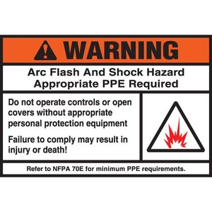 Panduit PPS0305W2109 Adhesive Sign, Polyester, Warning Header
