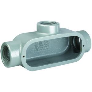 "Hubbell-Killark T448 1-1/4"" T Hub, Iron Form 8 Conduit Body"