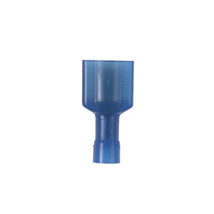 """Panduit DNF14-250FIM-M Male Disconnect, Nylon Fully-Insulated, 16 - 14 AWG, .25"""" x .032"""" Tab, Blue"""